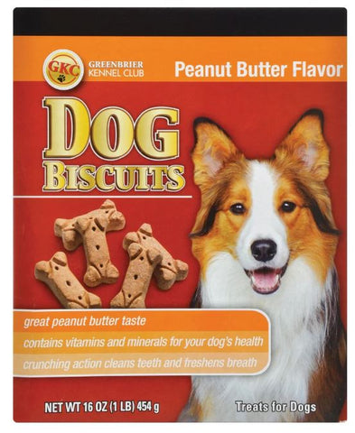 Peanut Butter Dog Biscuits, 16-oz. Boxes