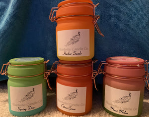 3 Oz - Scented Candles: Citrus, Melon, Dew, Harbor