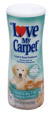 Love My Carpet Pardon My Pet 2-in-1 Carpet & Room Deodorizer, 17 oz.
