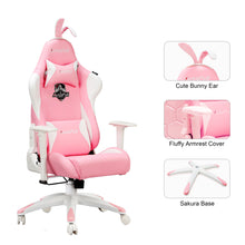 Load image into Gallery viewer, AutoFull Pink Gaming Chair With Bunny - AutoFull Official