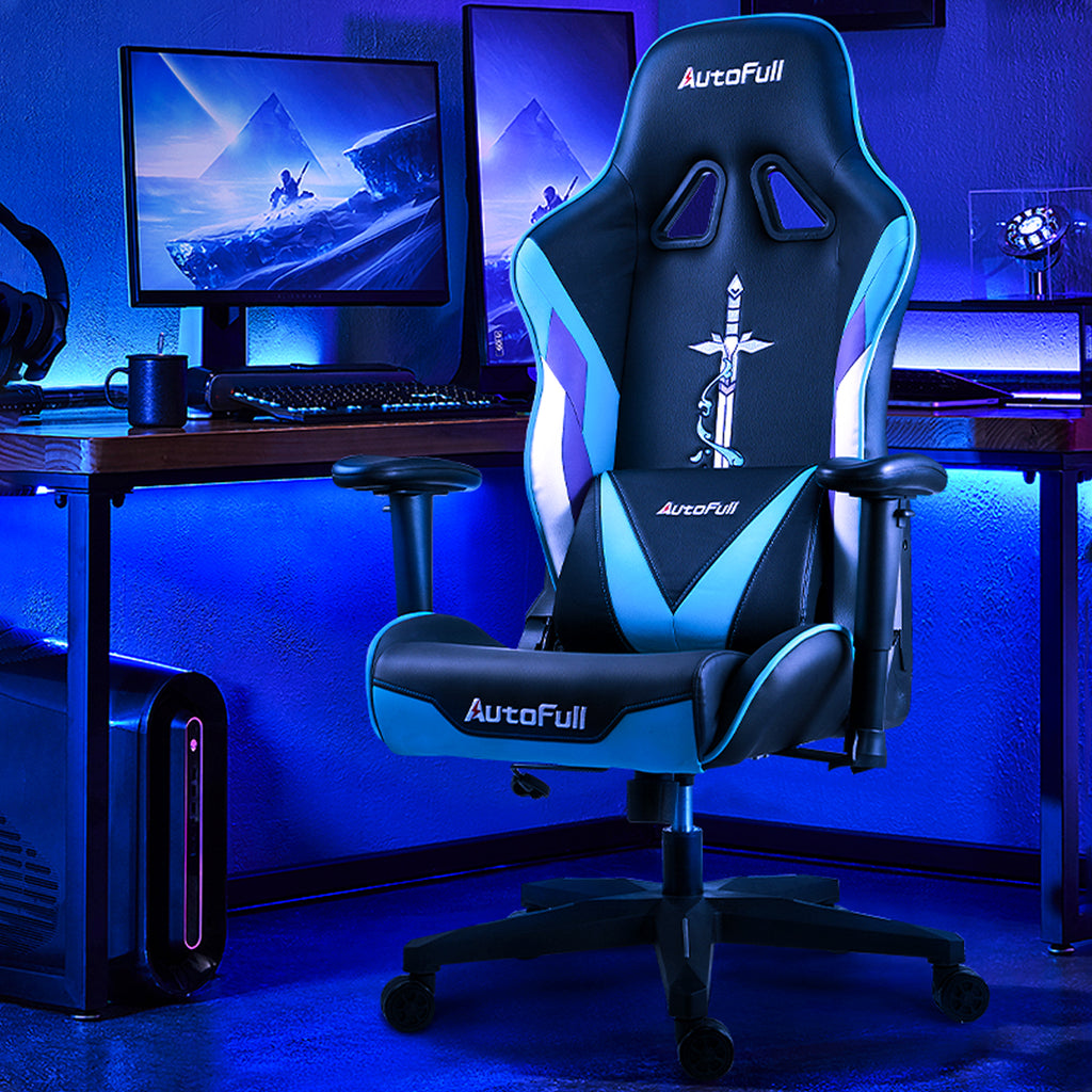 AutoFull Racing Gaming Chair,Cyan …