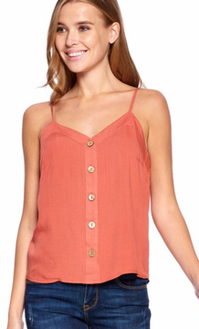 Button down V-Neck Cami