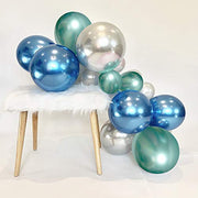 Shiny Metallic Chrome Latex Balloons, 50pcs