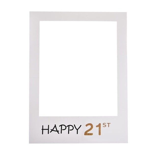 Birthday Photo Booth Selfie Frame