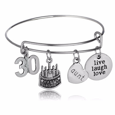 Favorite Aunt Happy Birthday Bracelet