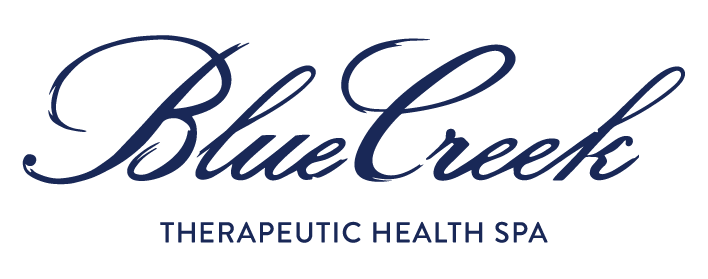The Blue Creek therapeutic health spa logo