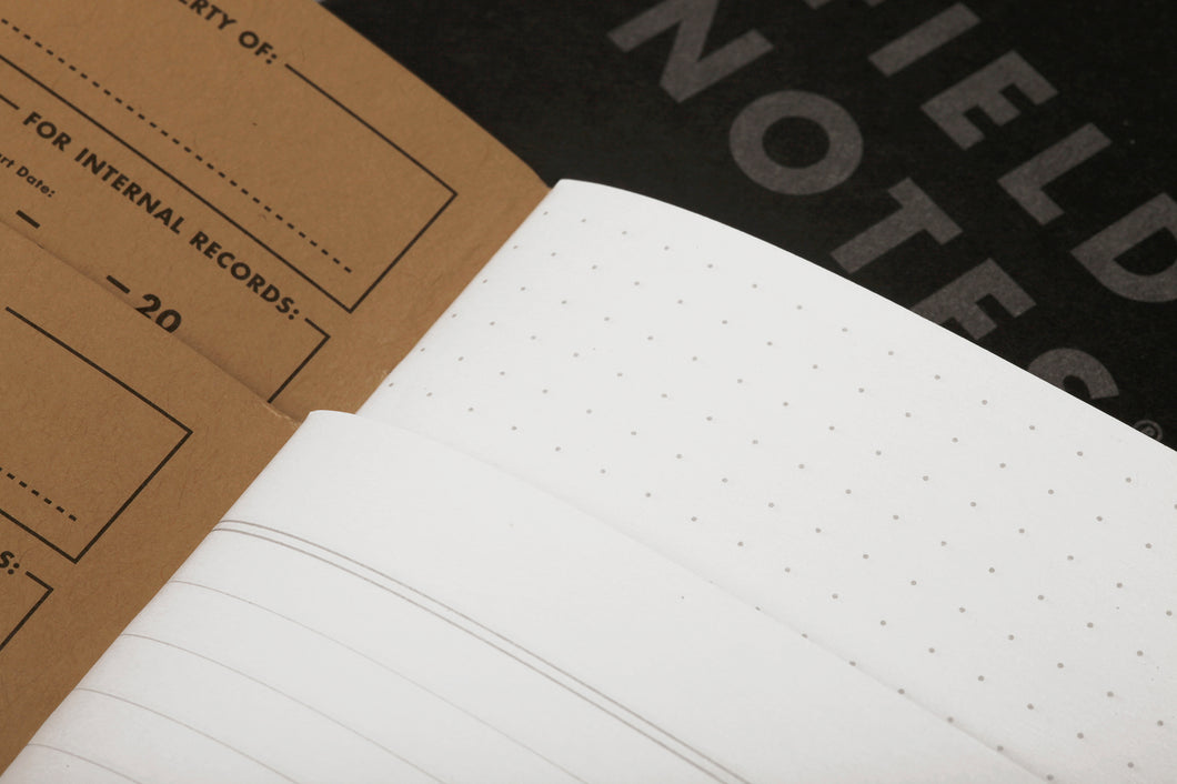 FIELD NOTES Pitch Black Notebook 2-pack 4-3/4in x 7-1/2in