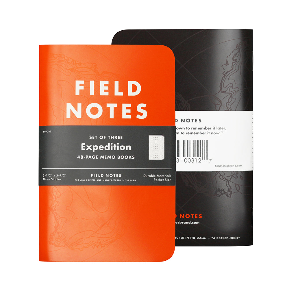 Field Notes EXPEDITION Memo Book. 3pk