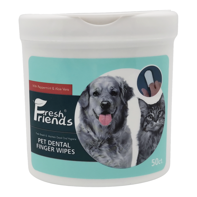 Fresh Friends Dental Finger Wipes 50 pcs for Dogs and Cats - Animall Philippines