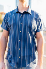 Load image into Gallery viewer, Blue Sunset Short Sleeve Shirt