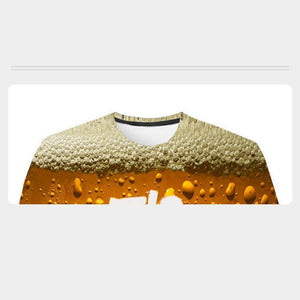 Rompsun™ Fashion 3D Print Beer Bubble Short Sleeve T-Shirt