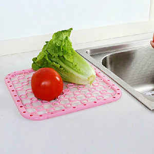 Rompsun™ Plastic Kitchen Sink Protector Draining Mat Deluxe Scratch Anti-Slip