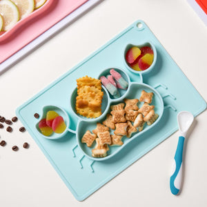 Rompsun™  Silicone Dinner Plate, Not Easy To Overturn Children's Dinner Plate