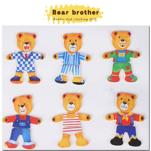 Rompsun™ Wooden Bear Dress Up Toy