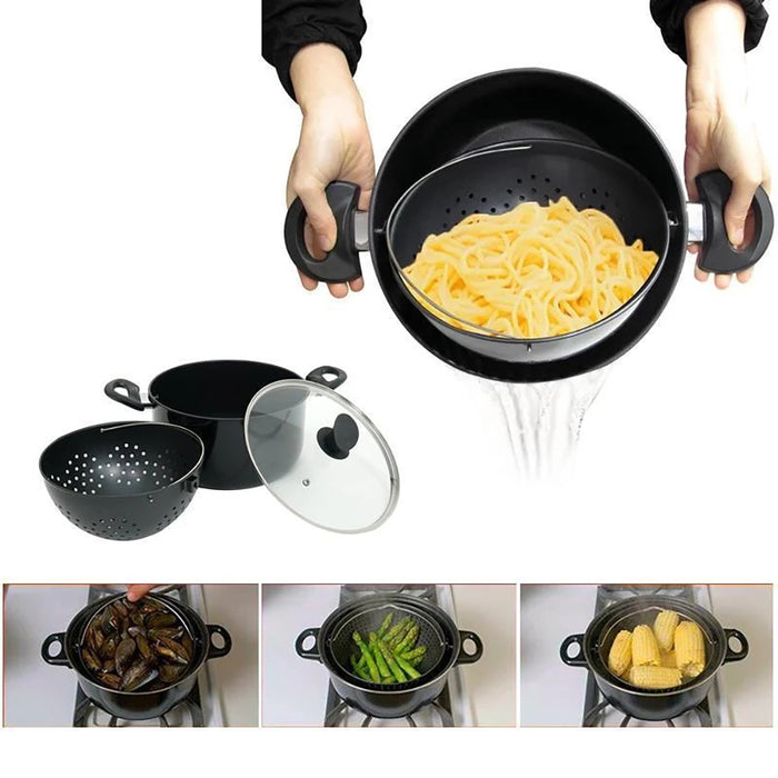 Rompsun™ Cooking Pot With Built-In Strainer - Best Helper For Kitchen