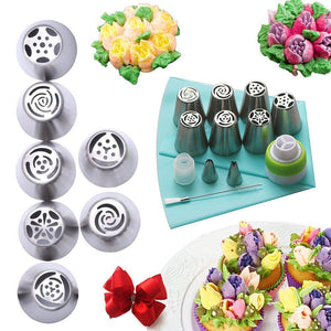 Rompsun™ Stainless Steel Spout Cake Decorating Set (13 pieces)