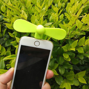Rompsun™ Mini Usb Small Fan 2-in-1 Portable Mobile Phone Fan
