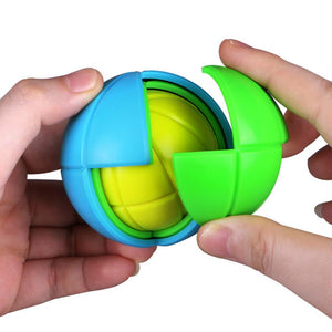 Rompsun™ 3D Maze Cube Puzzle Labyrinth Ball Toy Intelligence Brain Teaser Twist Games