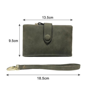 Rompsun™ Small Leather Trifold Wallets For Women