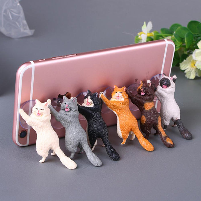 Rompsun™ Cat Mobile Phone Holder Stand with Sucker, Tablets Smartphone Holder