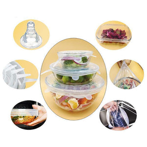 Rompsun™ Stretchable food silicone lid, 6 pieces