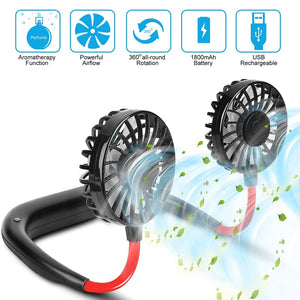 Rompsun™ Rechargeable Portable Hanging Neck Fan