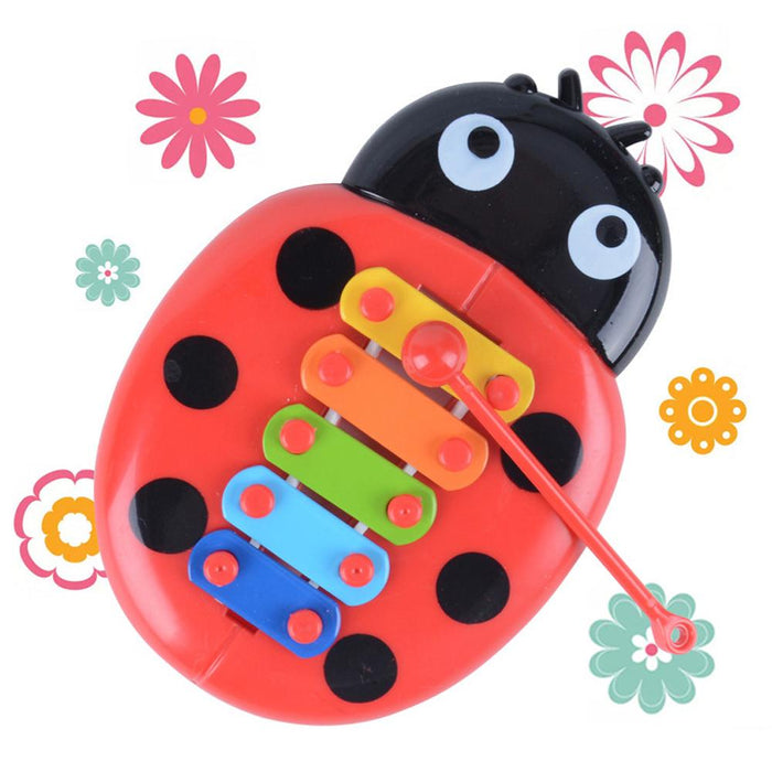 Rompsun™ Ladybird Shaped Xylophone Percussion Musical Toy with 5-Note Colorful Plate for Kid