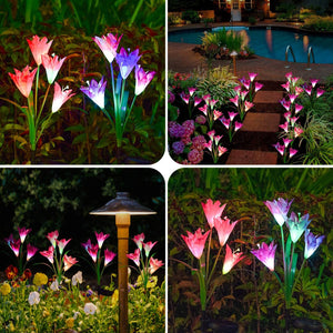 Rompsun™ Artificial Lily Solar Garden Stake Lights