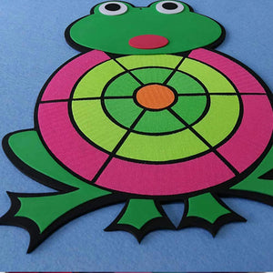 Rompsun™Cartoon Animal Frog Sticky Ball Dart Child Throwing Flying Toy Kids Darts Board with Balls Brain Game