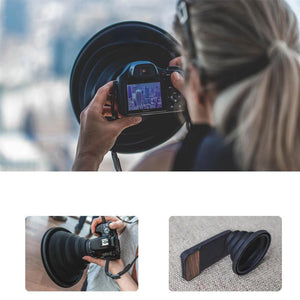 Rompsun™ Flexible Telescopic lens hood for phone or camera