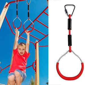Rompsun™ Swing Bar Rings - Colorful Backyard Outdoor Gymnastic Ring, Ninja Ring, Monkey Ring, Climbing Ring And Obstacle Ring