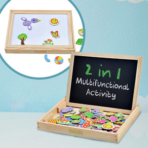 Rompsun™ Reversible Magnetic Drawing Board Toys. Perfect Toddler Toy.