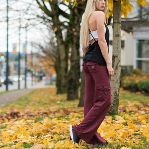 Rompsun™ Elastic Eco-Friendly Bamboo Yoga Pants with Pockets