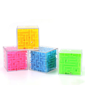 Rompsun™ 3D Maze Magic Cube Six-Sided Puzzle Rolling Ball Game Toys For Children