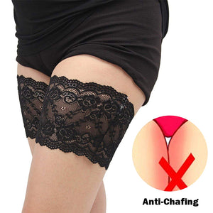 Rompsun™ Elastic Anti-Chafing Lace Thigh Bands, 1 Pair