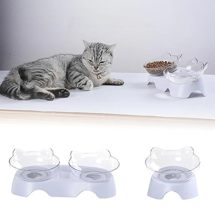 Rompsun™ Raised Cat Feeding Bowl