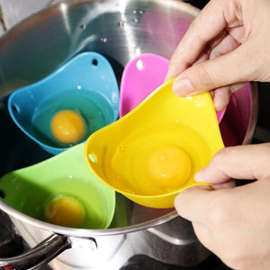 Rompsun™ Silicone Poaching Pods Egg Mold Bowl Rings Cooker Boiler Kitchen Pancake Maker