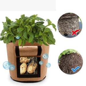 Rompsun™Gardening Plant Growing Bag - Tomato, Potato,Carrot Vegetable Planter Container