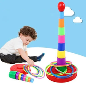 Rompsun™ 8 Layers Colorful Plastic Ring Toss Game Set