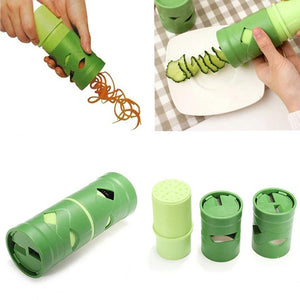 Rompsun™ Kitchen Utensils Multi-Function Rotary Planer Radish Cutters Cucumber Double-Sided Plastic Cutting