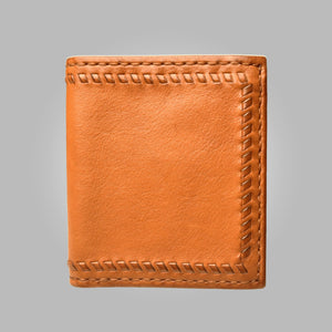 Tan Aston Leather Alcott Hand Stitched Wallet