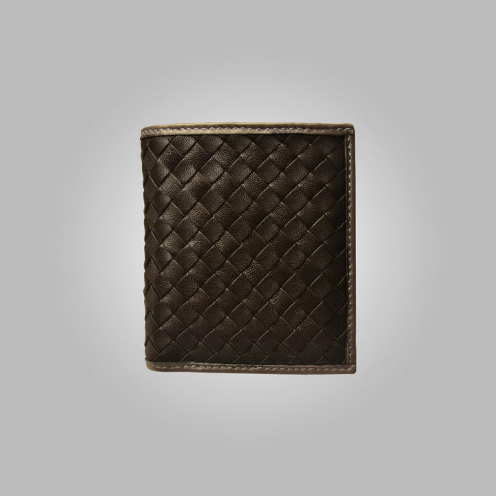 Black Aston Leather Havana Hand Stitched Wallet
