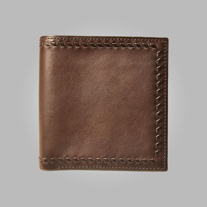 Brown Aston Leather Steinbeck Hand Stitched Wallet
