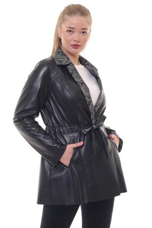 Barya Reversible Leather Trench