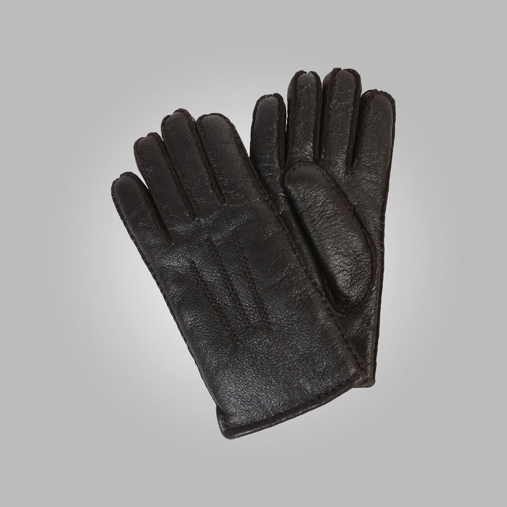 Men's Black Aston Leather Sheepskin Gloves