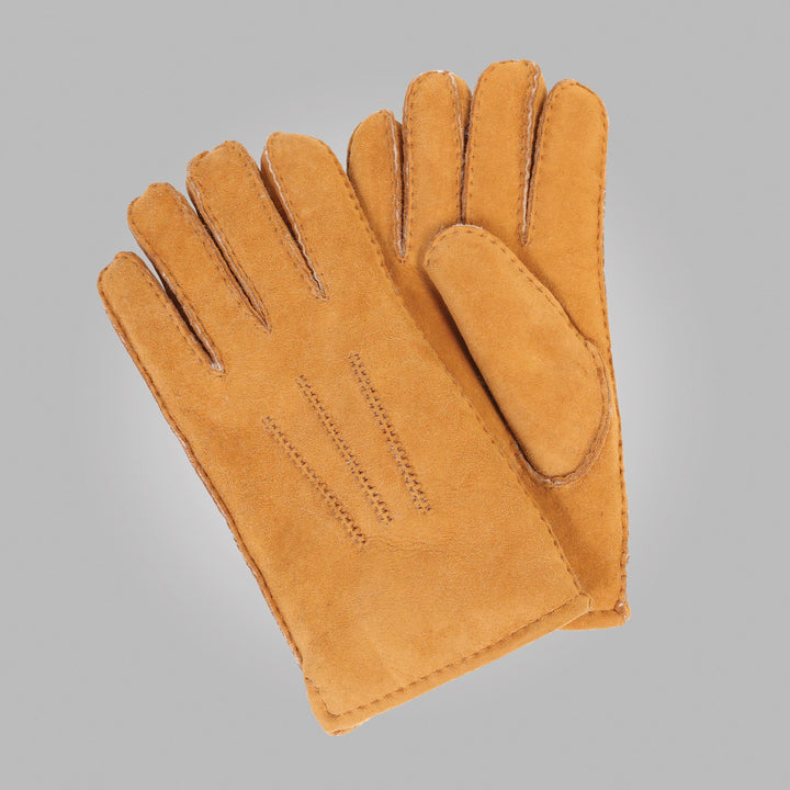 Men's Sahara Tan Aston Leather Sheepskin Gloves