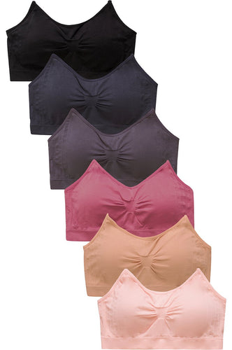 PACK OF 6 | Sofra Women's Seamless Sports Bra (BR0141S4)