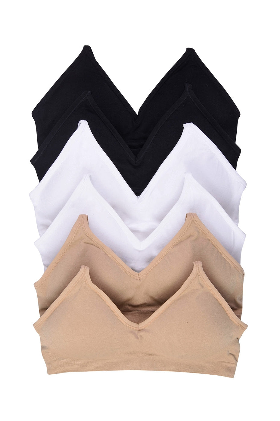 PACK OF 6 | Sofra Women's Seamless Sports Bra (BR0160SP)