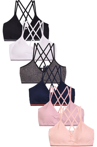 PACK OF 6 | Mamia Women's Seamless Sports Bra (BR0239SP)