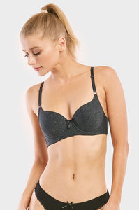 PACK OF 6 | Sofra Women's Full Coverage Cotton Blend Bra (BR4208P1)